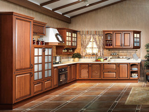Traditional Thermofoil Kitchen Cabinet azaz-kl01